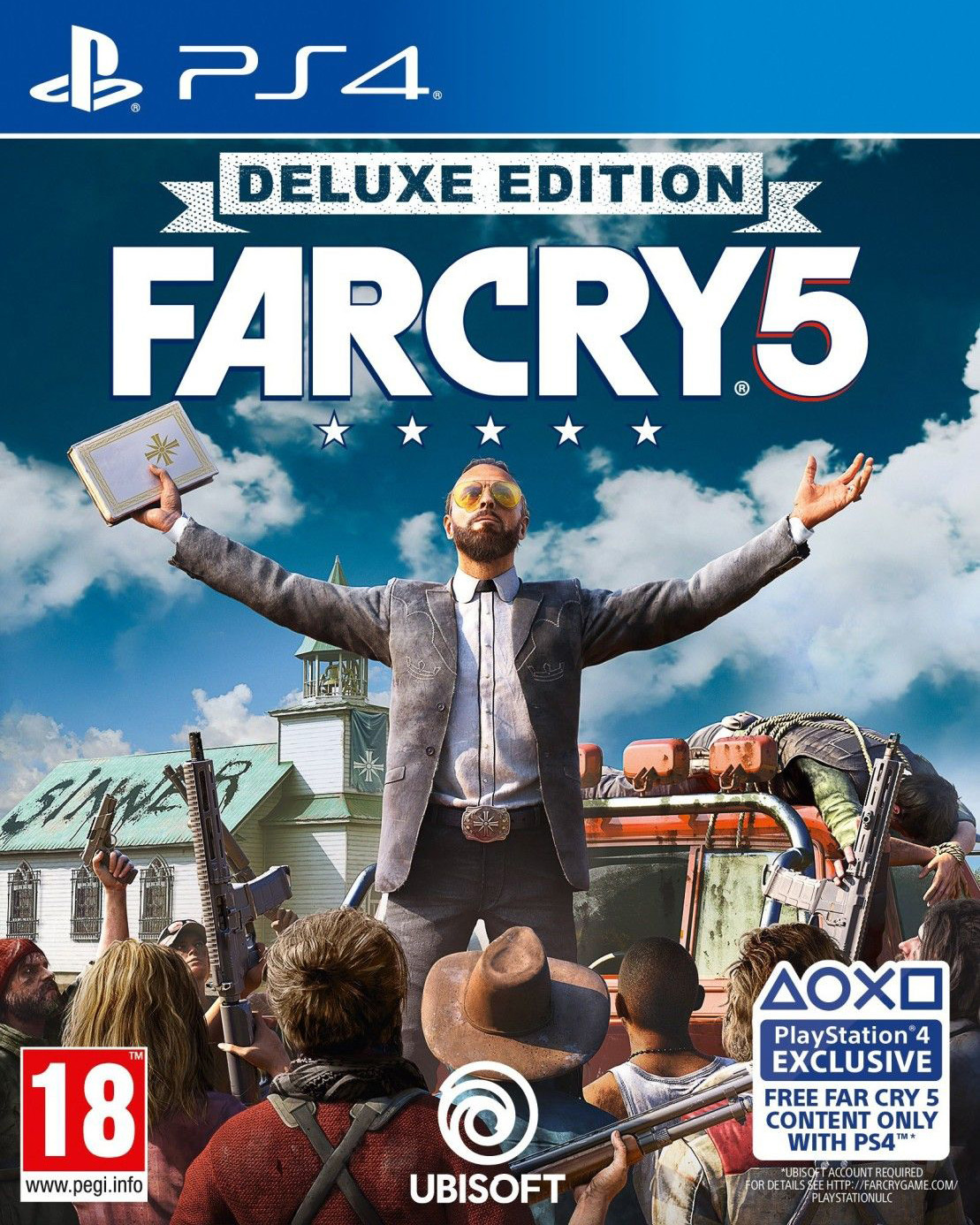 Far Cry 5 Deluxe Edition [PS4] 5.05 / 6.72 / 7.02 [EUR] (2018) [Русский] (v1.12)