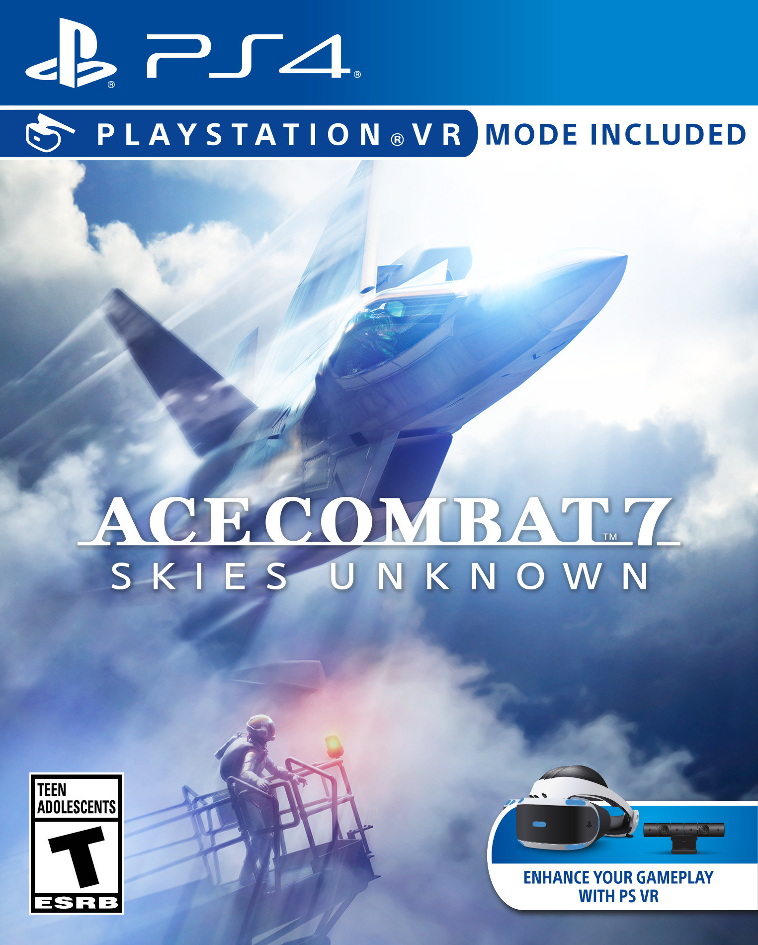Ace Combat 7: Skies Unknown [PS4 VR] 5.05 / 6.72 / 7.02 [EUR] (2019) [Русский] (v1.00)