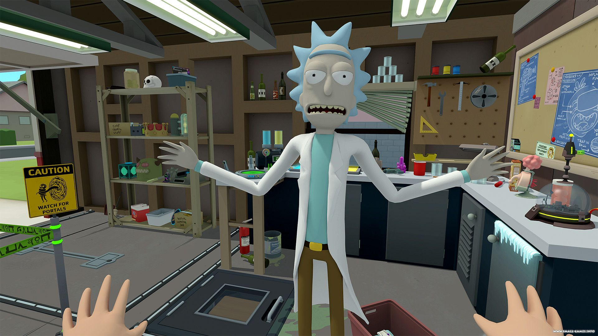 Скриншот *Rick and Morty: Virtual Rick-ality [PS4 VR Only] 5.05 / 6.72 / 7.02 [EUR] (2018) [Английский] (v1.00)*