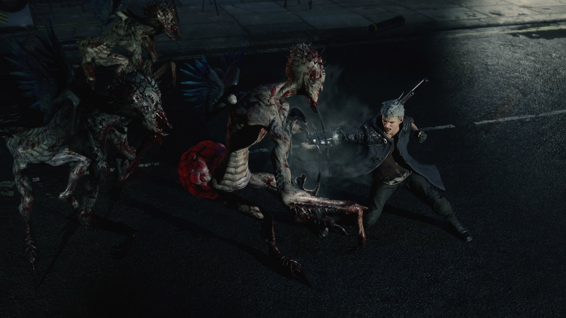 Скриншот *Devil May Cry 5 - Deluxe Edition [PS4] 6.72 / 7.02 / 7.55 [EUR] (2019) [Русский] (v1.08)*
